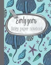Early years story paper notebook