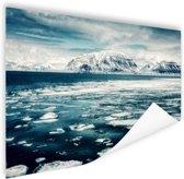 Uitzicht gletsjer Poster 120x80 cm - Foto print op Poster (wanddecoratie)