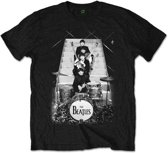 The Beatles - Stage Stairs heren unisex T-shirt zwart - XL