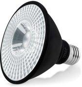 YPHIX LED Spot PAR 30 zwart E27 grote fitting - 11W - Warm wit (3000K)