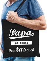 Cadeau tas zwart katoen met de tekst Papa je bent fantastisch - kadotasje voor vader