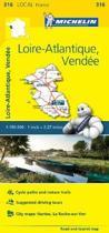 Loire-Atlantique, Vendee - Michelin Local Map 316