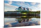 De Gateshead aan de rivier de Tyne in Newcastle-upon-Tyne Aluminium 120x80 cm - Foto print op Aluminium (metaal wanddecoratie)