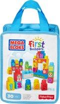 Mega Bloks First Builders 30 Maxi blokken met tas - Constructiespeelgoed