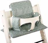 UKJE.NL Geplastificeerd Stokke TrippTrapp kussen stoelverkleiner kussenset - Mintgroene blaadjes ♥