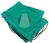 Aanhangwagennet fijnmazig groen 4.5x2.5mtr