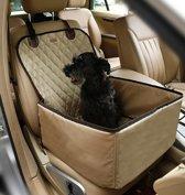 Stoelbeschermer - Autostoel beschermhoes voor honden - Stoelhoes - Honden autostoel 45 x 45 cm Champagne