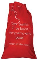 grote rode kerst zak met opdruk
