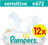 Pampers Sensitive Billendoekjes - 672 Stuks (12 x 56)