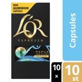 L'OR ESPRESSO Papua New Guinea koffiecups - 10 x 10 cups