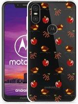 Motorola One Hoesje Apples and Birds