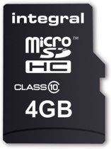 INTMicro SDHMEM Micro SDHC4GBINTEGRA