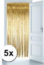 Gouden deur gordijnen 5x