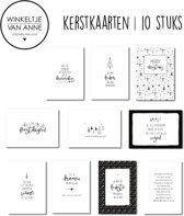 Kerstkaarten | 10 kaarten | kerst | winkeltjevananne.nl