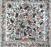 Premium Grote Zijden Sjaal - Bloemenprint Wit Multi Kleur - Stola - Luxe Shawl - omslagdoek