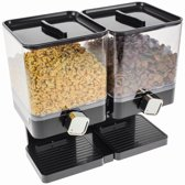 United Entertainment  - Luxe Dubbele Cornflakes Dispenser - Zwart