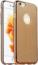 Apple Iphone 6 / 6S Siliconen hoesje gevlochten design (goud)