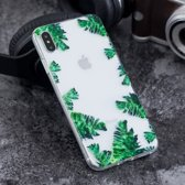 iPhone XS Max (6,5 inch) - hoes, cover, case - TPU - Transparant - Bladeren