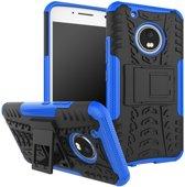 Motorola Moto G5 Plus hoesje - Rugged Hybrid Case - blauw