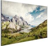 FotoCadeau.nl - Berggebied Aluminium 60x40 cm - Foto print op Aluminium (metaal wanddecoratie)