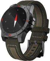 N10 1.22 inch ronde IPS scherm buiten Waterdicht Smart Heart Rate Monitor Watch  steun stappenteller / kompas / anti-verloren herinnering / Thermometer / hoogte / Remote Camera / Bel Indication(zwart)