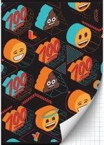 Schrift Emoji Boys 3-pack A4 geruit