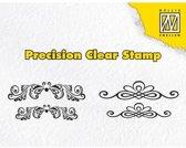 Nellies Choice Precission stempel swirls & diamonds APST020