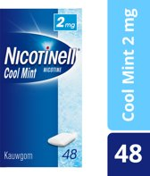 Nicotinell cool mint 2 mg kauwgom - 48 stuks - Antirookbehandeling