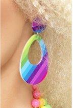 Teardrop Earrings Druppel Clip-on Oorbellen Regenboog kleuren