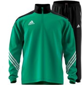 adidas Sereno 14 Presentatie  Trainingspak - Maat S  - Mannen - groen/zwart/wit