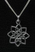 Zilveren Lotus ketting hanger
