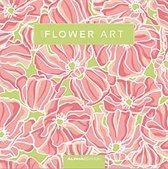 Beeldkalender 2019 - Flower Art - Maand - Roze - 30x30 cm