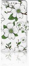 Samsung Galaxy A8 2018 Boekhoesje Design Dogwood Flowers