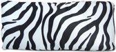 Decoratief kussen zebra dierenbont look 50x20