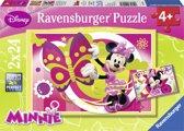 Een dag met Minnie - Kinderpuzzel - 2x 20 Stukjes