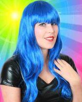 Pruik Sensation - Lang - Blauw