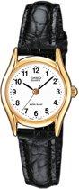 Casio Ltp-1154Q-7Bef - Horloge - 23 mm - Leer - Zwart