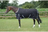 QHP Regendeken Turnout met fleece - Black - 195