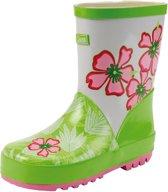 Gevavi Boots Emma meisjeslaars rubber groen/wit 27