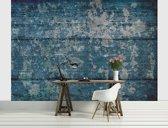 Fotobehang Vlies | Industrieel | Blauw | 368x254cm (bxh)
