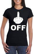 Fuck off t-shirt zwart voor dames XS