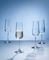 Villeroy & Boch Ovid Champagneglazen per 4 stuks - kristalglas
