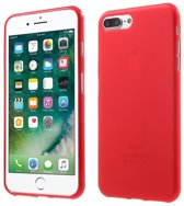 GadgetBay Rood silicone hoesje iPhone 7 Plus 8 Plus Rode cover effen Red case