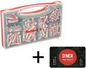 Fischer DuoPower Pluggenset - 280 delig - inclusief gratis Diner Jaarkaart