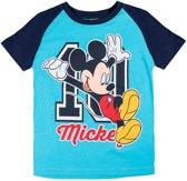 Disney-Mickey-T-shirt-met-korte-mouw-blauw-maat-104