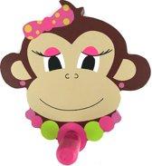 Kinderkapstokje aap meisje hout - kinderkapstok kinderen kinderkamer dieren -