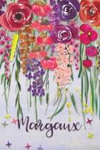 Margaux: Personalized Lined Journal - Colorful Floral Waterfall (Customized Name Gifts)
