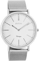 OOZOO Vintage C7385 - Horloge - Staal - Zilverkleurig - 40 mm
