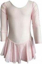 Balletpakje roze maat 134/140 lange mouw