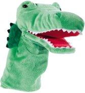 Pluche handpop krokodil 33 cm - knuffeldier / knuffels